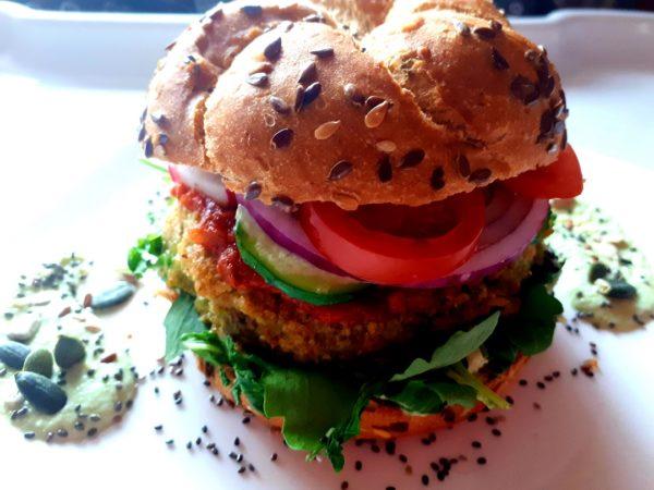 Veggie green burger